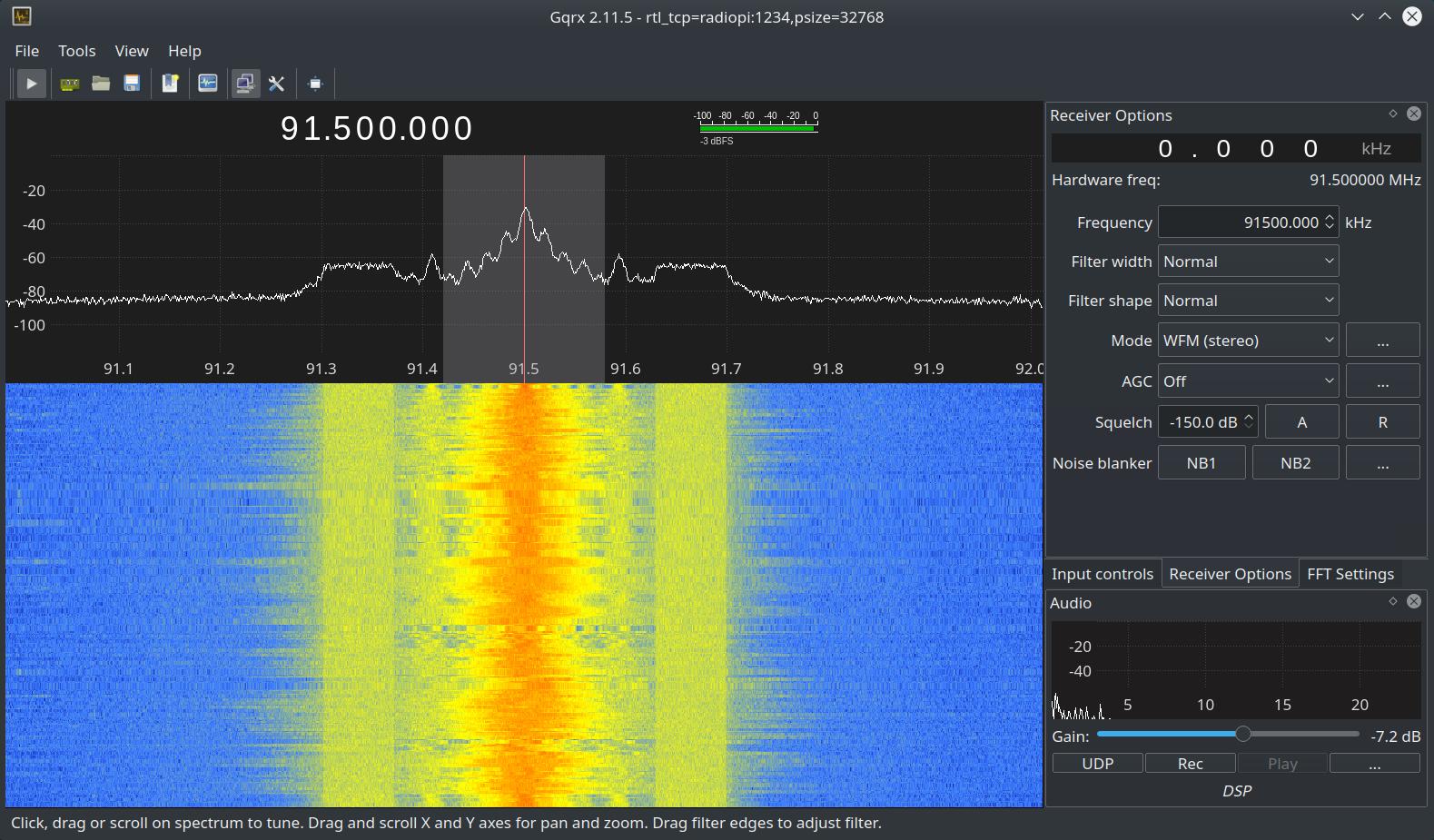 Setting up Gqrx Software Defined Radio on Ubuntu 18 04 Using
